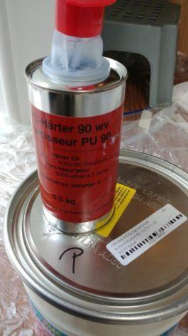PU Härter für 2K Farbe zum Wohnwagen streichen