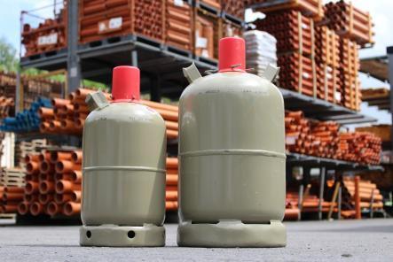 Gasflaschen Tausch 5kg 11kg Tuasch Gasflasche beim Baumarkt