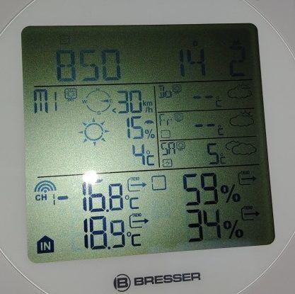 Wohnwagen Thermometer - außen Temperatur um 9h morgens -16,8 Grad