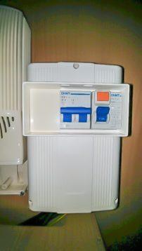Sicherungskasten im Wohnwagen mit Fi Schlter