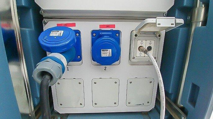 Stellplatz Stromanschluss für Wohnwagen Geschirrspüler mit 6A Absicherung