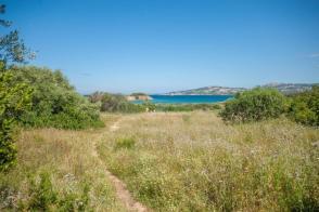 Weg durch die Vegetation zum Strand mit dem MTB