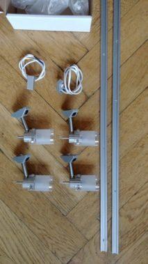 Wohnwagen Halogen Strahler Set mit Stromschienen