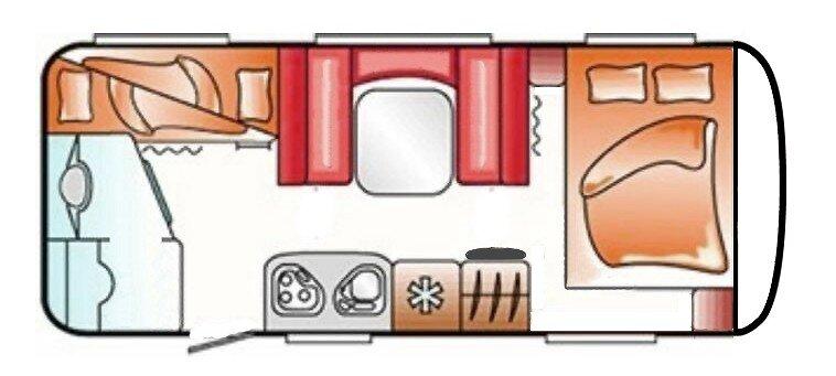 LMC 570 K Wohnwagen Innenraum Plan