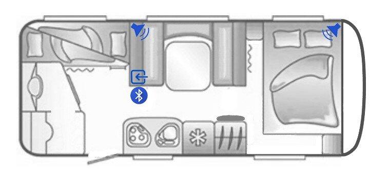 Eoinabuplan Skizze vom Wohnwagen für Bluetooth Lautsprecher Umrüstung