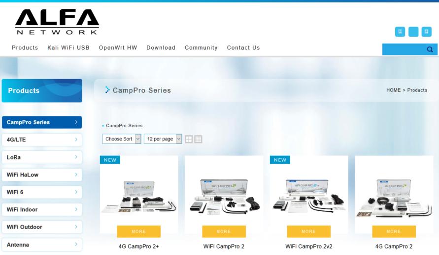 Alfa Network Camp Pro Serie Wifi 4G Camping Signalverstärker