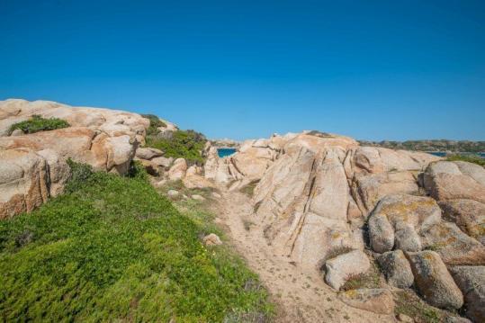 Felsen Formation am Strand auf La Maddalena