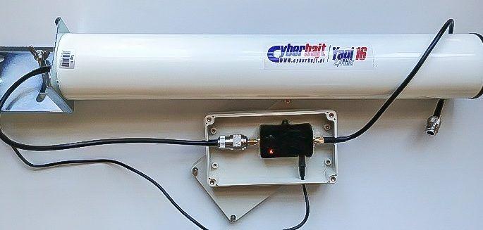 selbstgebaute WLAN Verstärker Richtantenne mit 30 dB Gewinn