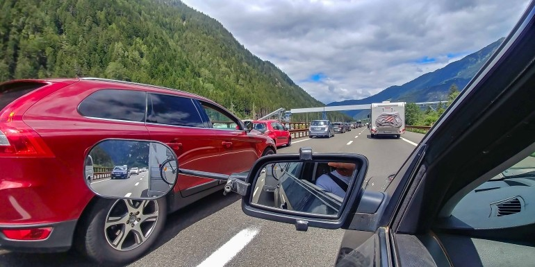 Südfrankreich mit dem Wohnwagen - Anreise über die Brenner Autobahn