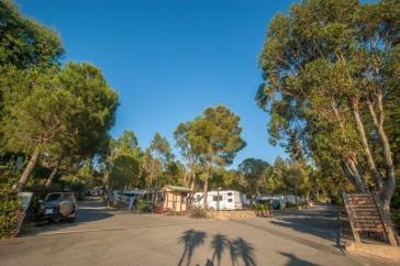 Stellplätze auf dem Campingplatz Les Tournels nahe Saint Tropez