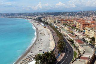 Nizza Strandpomenade mit Meer und Croisette