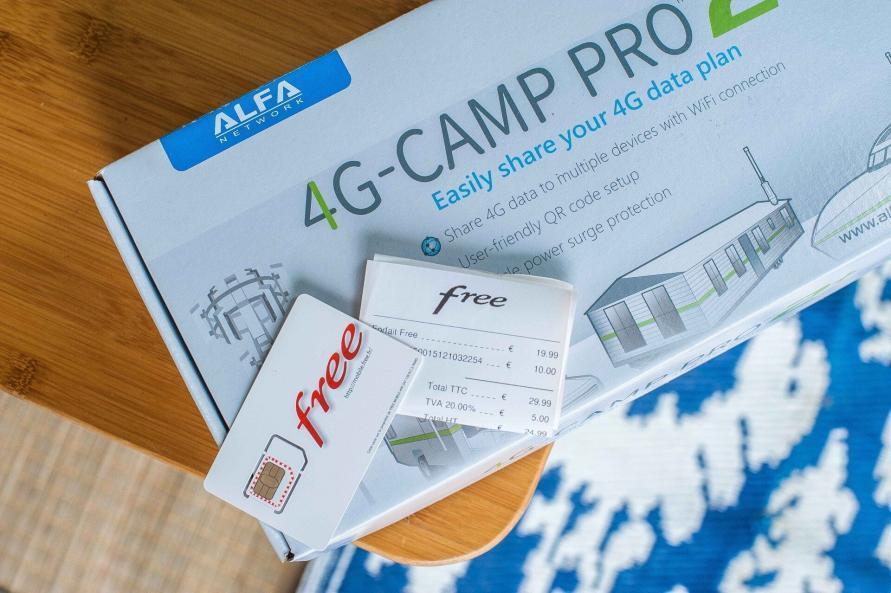 ALFA Network 4G Camp Pro LTE Set mit free Mobile SIM und Quittung
