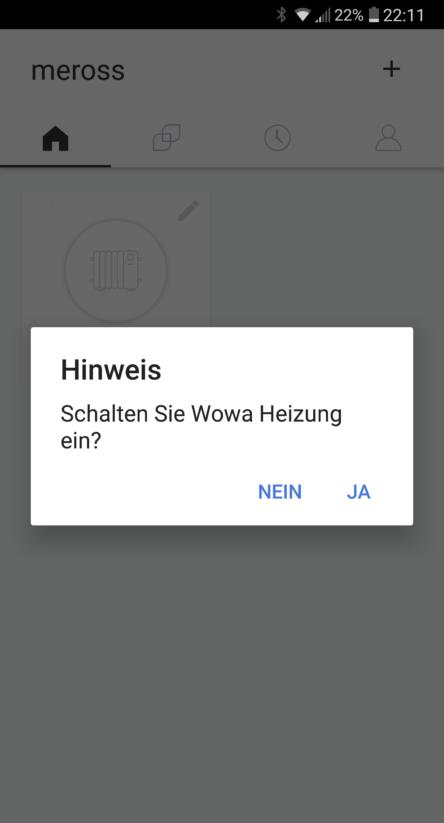 Wohnwagen Heizung fernsteuern mit APP Smart WLAN Plug Steckdose Android Apple einschalten Screen