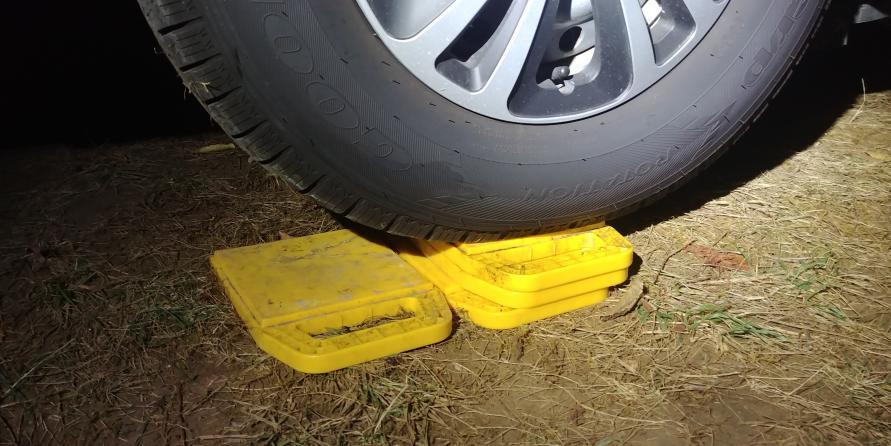 Wohnwagen Quick-Tipps Kurbelstütze Bodenplatte Stützplatte Auffahrplatten