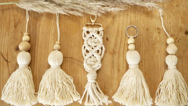 Macrame Boho Makramee Schlüsselanhänger DIY selbstgemacht Geschenk Weihnachtsgeschenk Tutorial