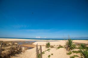 Surfen und Camping Campingplatz Wohnwagen Zelten Le Saint Martin Atlantik Baden Dünen Surfkurs Sommer Strand Urlaub Panorama MYSMALLHOUSE.de