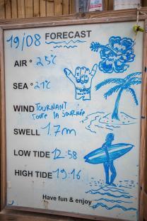 MYSMALLHOUSE.de Surfen und Camping Campingplatz Wohnwagen Zelten Le Saint Martin Atlantik Baden Dünen Surfkurs Sommer Strand Urlaub Stellplatz Surfbrett Wellen Lufttemperatur Wassertemperatur Swell