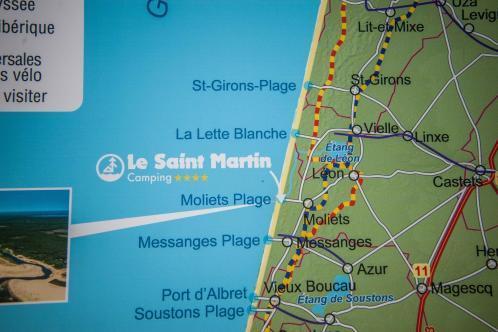 Surfen und Camping Campingplatz Wohnwagen Zelten Le Saint Martin Atlantik Baden Dünen Surfkurs Sommer Strand Urlaub Stellplatz Le Saint Martin Landkarte Anfahrt