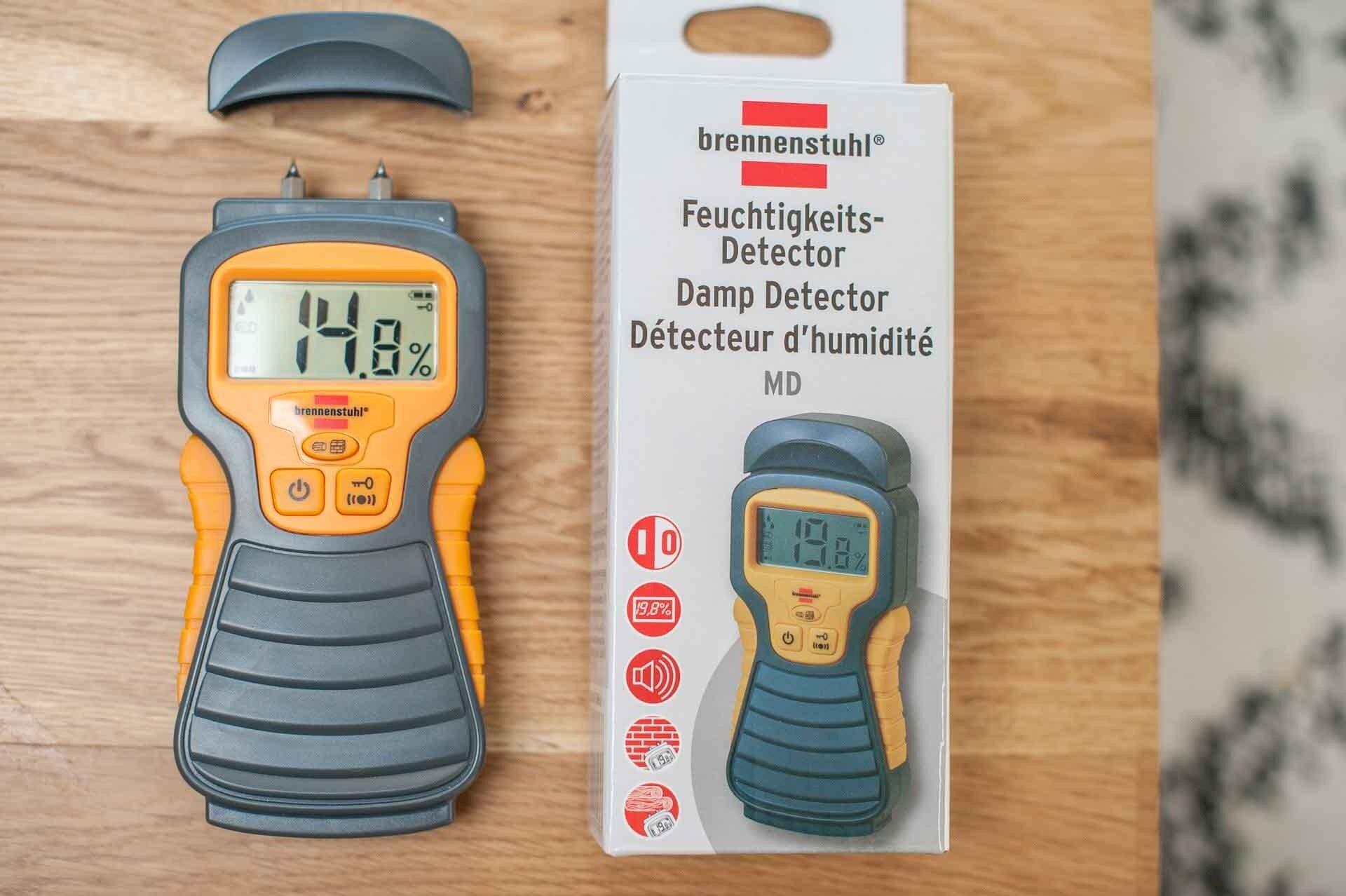 MYSMALLHOUSE.de Brennstuhl Feuchtigkeitsmessgerät für Wohnwagen Dichtigkeitsprüfung Holz Feuchtigkeit Brennstuhl