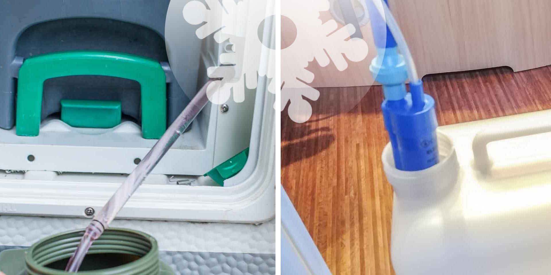 Wohnwagen Wasserversorgung im Winter Wintercamping Tipps Wassertank Toilette winterfest machen Winter Frostschutz Frost Wasser gefriert