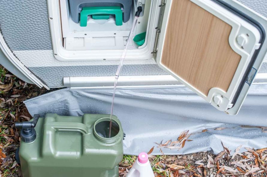 Wohnwagen Wasserversorgung im Winter Wintercamping Tipps Wassertank Toilette winterfest machen Winter Frostschutz Toiletten Flüssigkeit ablassen frostschutz Winter wieder verwenden