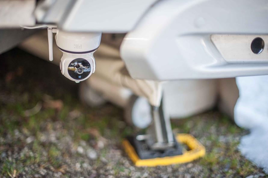 Fernüberwachung Wohnwagen IP Web Cam Sicherheit Stellplatz Camping Live Video Installationsort Unterboden