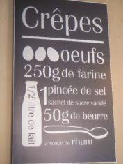 Städtetour Montignac - Kreidetafel mit Crepes Rezept