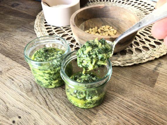 Basilikum Pesto Rezept fürs Camping selbstgemacht