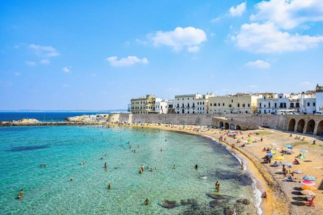 Gallipoli mit Stadtstrand - Hinterland von Salento
