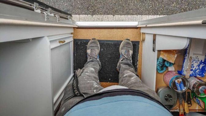 Caravan Makeover - ...und los geht es mit der Renovierung unseres Wohnwagens
