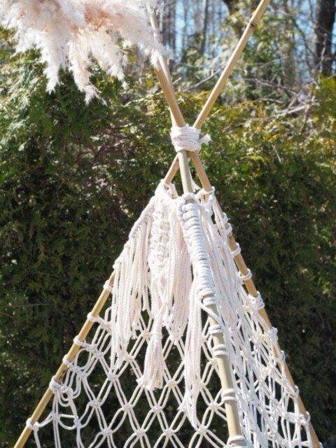 Makramee Tipi Zelt - Tipi Zelt Makramee Girlande als Dekoration