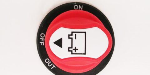 12V Trennschalter für die Unterbrechung der Stromzufuhr von der Mover Batterie